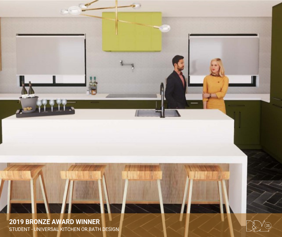 DDA Canada | 2019 Bronze Award Winner – Student – Universal Kitchen and Bathroom Design
